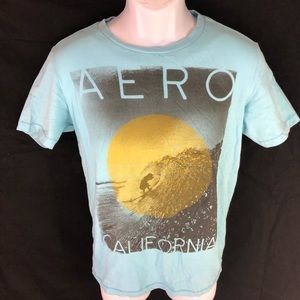 Aeropostale Men's Blue Surf T-shirt XS
